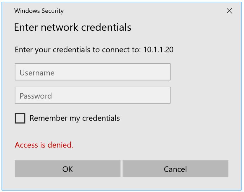 Sketch win 10 network credentials