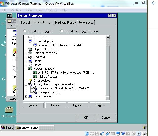 VirtualBox and Windows 95 – Basil's Tech Diary